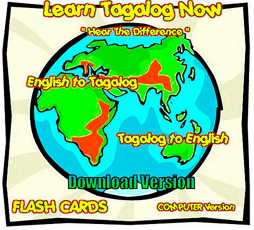 Tagalog Language software flashcards download