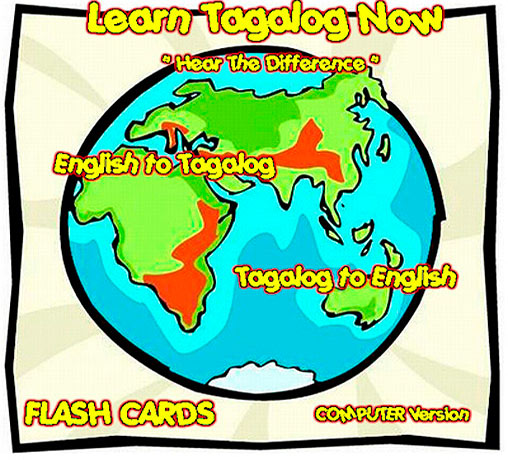 Tagalog Language software flashcards